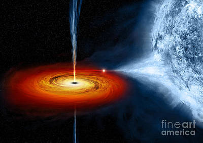 Cygnus X-1 Stellar Black Hole Poster by  NASA CXC MWeiss