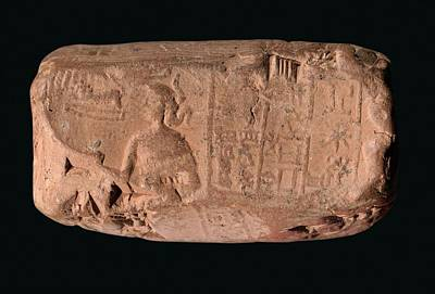 Cylinder Seal Goddess Poster by Library Of Congress