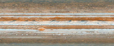 Cylindrical Projection Of Jupiter S Surface  Poster