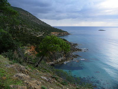 Cyprus Coastline Poster by Noreen HaCohen