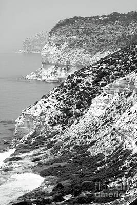 Cyprus View - Black And White Poster
