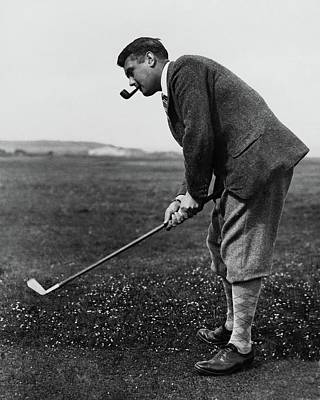 Cyril Tolley Playing Golf Poster by Artist Unknown