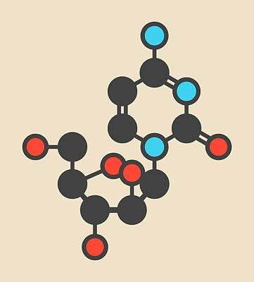 Cytarabine Drug Molecule Poster by Molekuul