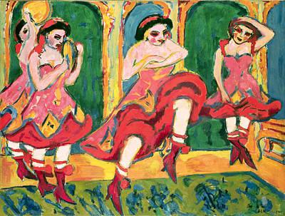 Czardas Dancers, 1908-20 Poster by Ernst Ludwig Kirchner