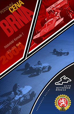 Czech Republic Historic Grand Prix Poster