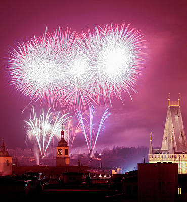 Czech Republic, Prague - New Years Poster by Panoramic Images