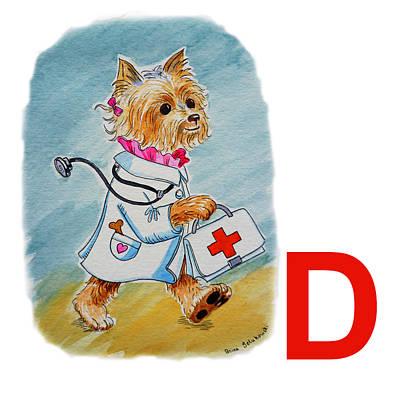 D Art Alphabet For Kids Room Poster by Irina Sztukowski