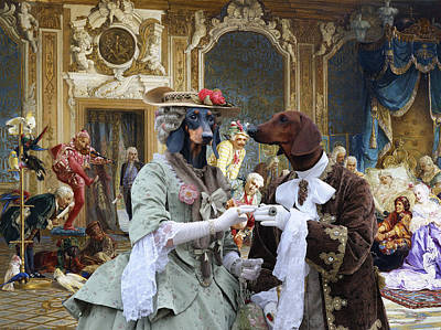 Dachshund Art - Royal Party Poster