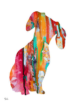 Dachshund  Poster by Watercolor Girl