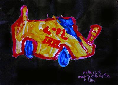 Daddy's Corvette Poster by Carol Tsiatsios