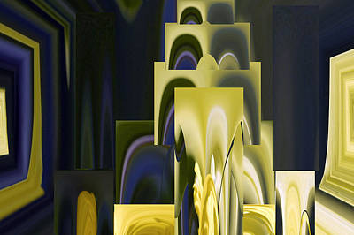 Daffodil Abstract Poster by Pat Exum