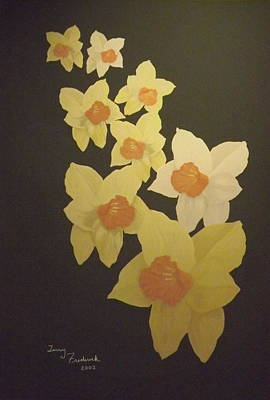 Poster featuring the digital art Daffodils by Terry Frederick