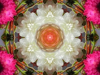 Dahlia Portal Mandala Poster