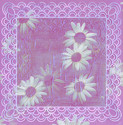 Poster featuring the photograph Daisies And Paper Lace by Sandra Foster