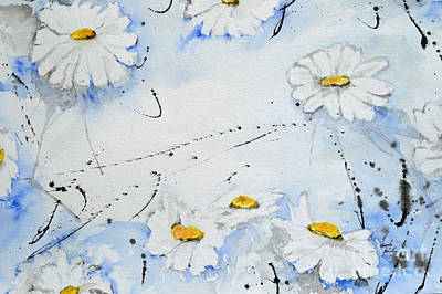 Daisies - Flower Poster by Ismeta Gruenwald