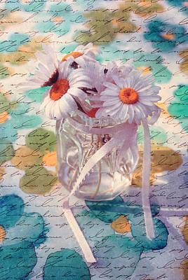Daisies In Pot 02c - Du Bonheur En Pot Poster by Variance Collections