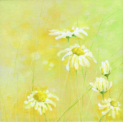 Poster featuring the painting Daisies by Natasha Denger
