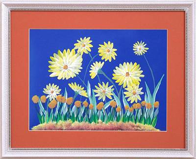 Poster featuring the painting Daisies by Ron Davidson