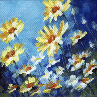 Poster featuring the painting Daisy Field by Natasha Denger