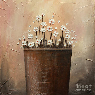 Daisy Pot Poster by Home Art