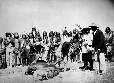 Dakota Cattle Slaughter Poster by Granger