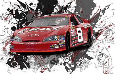 Dale Jr  Poster by Mike Shaw