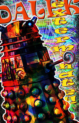 Dalek Exterminate Poster by Mark Compton