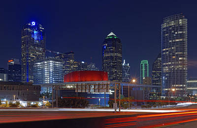 Dallas Arts District At Night Hd Poster by Jonathan Davison