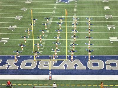 Dallas Cowboys Cheerleaders Poster by Donna Wilson