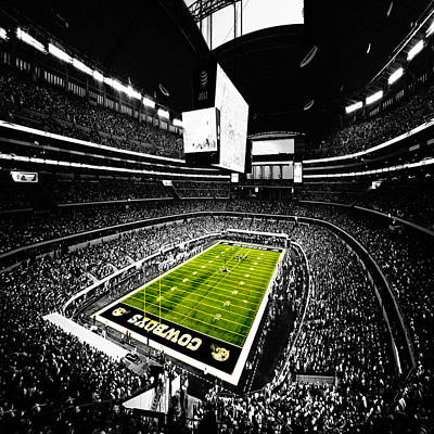 Dallas Cowboys Football Stadium Poster by Brian Reaves
