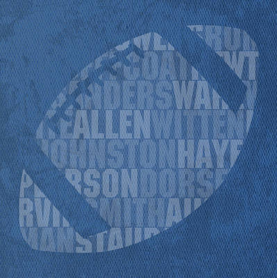 Dallas Cowboys Football Team Typography Famous Player Names On Canvas Poster by Design Turnpike