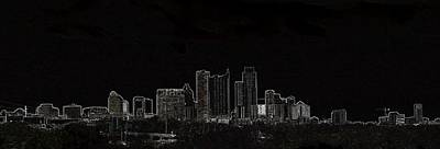 Poster featuring the photograph Dallas Glow Skyline by Ellen O'Reilly