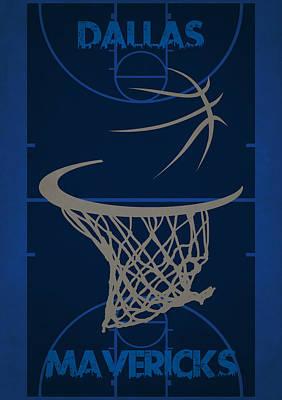 Dallas Mavericks Court Poster by Joe Hamilton