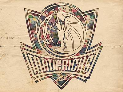 Dallas Mavericks Poster Art Poster by Florian Rodarte