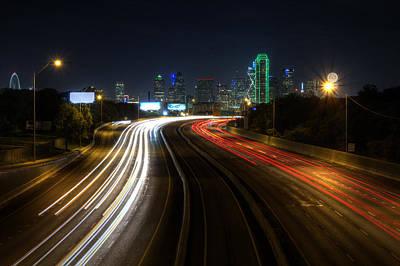 Dallas Night Light Poster by Jonathan Davison