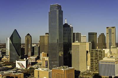 Dallas Skyline Golden Hour Poster by Jonathan Davison