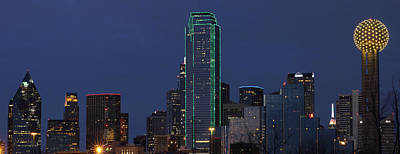 Dallas Skyline Poster by Jonathan Davison
