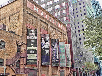 Poster featuring the photograph Dallas Texas Majestic Theater by Kathy Churchman