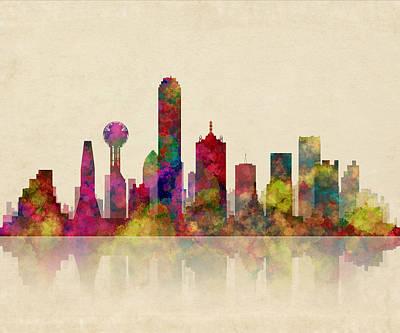 Dallas Texas Skyline Poster by Daniel Hagerman