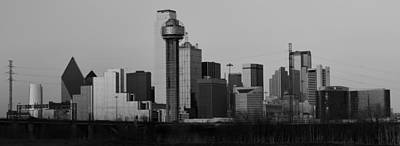 Dallas Trinity River Black And White Poster by Jonathan Davison