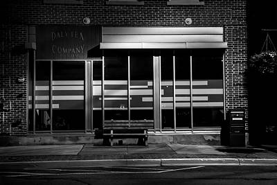 Daly Tea Company At Night Poster
