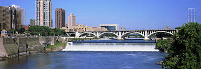 Dam Over A River, Upper St. Anthony Poster by Panoramic Images