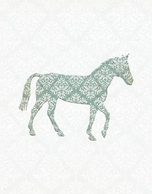 Damask Horse Poster by Tara Moss
