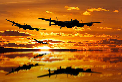 Dambusters Avro Lancaster Bombers Poster