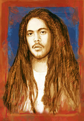 Damian Marley - Stylised Drawing Art Poster Poster