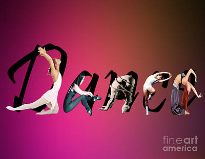 Poster featuring the digital art Dance Expressions by Megan Dirsa-DuBois