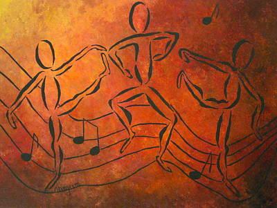 Dance Fever Poster by Pamela Allegretto