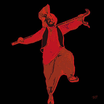 Poster featuring the painting Dance Like A Punjabi Man by Nop Briex