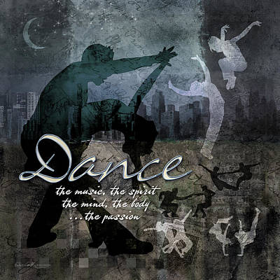 Dance Neutral Colors Poster by Evie Cook