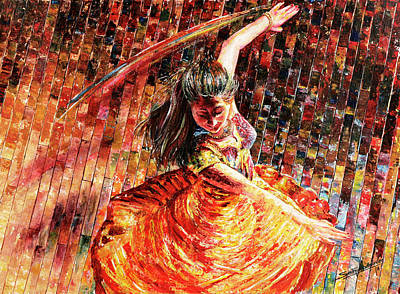 Dance Of Colors Poster by Sethu Madhavan